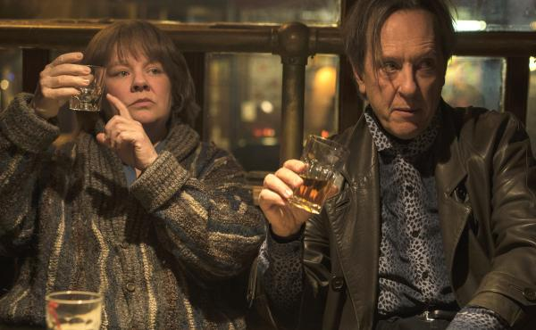 Richard E. Grant plays Jack Hock, the sidekick to literary forger Lee Israel (Melissa McCarthy) in Can You Ever Forgive Me?