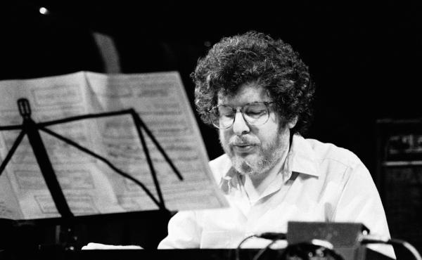Richard Teitelbaum, photographed performing at the BIMHUIS in Amsterdam on Oct. 18, 1991.