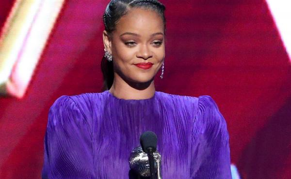 Rihanna accepts the President's Award onstage during the 51st NAACP Image Awards on Feb. 22, 2020.