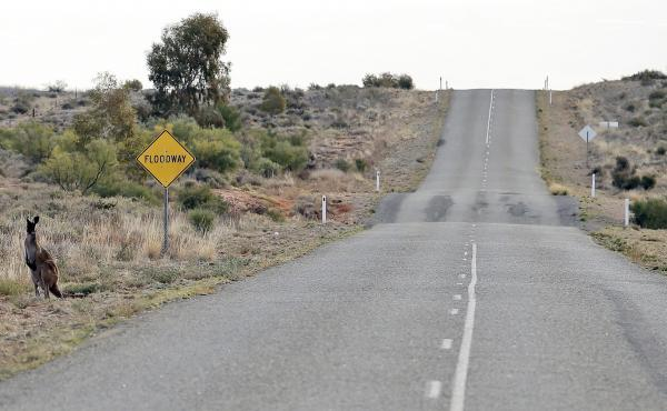 The 12-year-old boy who Australian police say drove some 800 miles solo likely traveled down roads like this one near the remote town of Broken Hill in New South Wales.