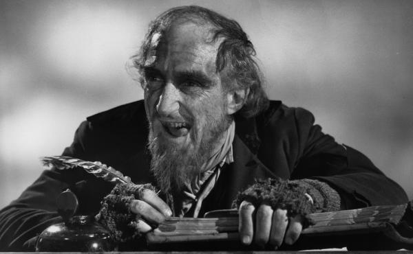 Ron Moody, as Fagin, is seen in a 1968 publicity portrait for the film Oliver!