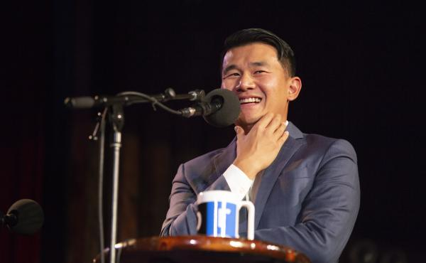 Ronny Chieng appears on Ask Me Another at the Bell House in Brooklyn, New York.