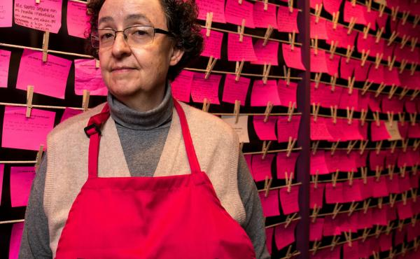 Artist Monica Mayer is the creator of the El Tendedero/The Clothesline Project, now at the National Museum of Women in the Arts.