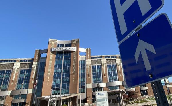 "Saint Luke's Hospital of Kansas City is one of the 18 hospitals in the Saint Luke's Health System. Two-thirds of the COVID-19 patients transferred to Saint Luke's from rural areas need intensive care. ""We get the sickest of the sick,"" says Dr. Marc Larsen"