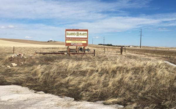 The Diamond B Ranch, north of Cheyenne, Wyo., is no longer a working property. It's been bought and subdivided by a realty company.