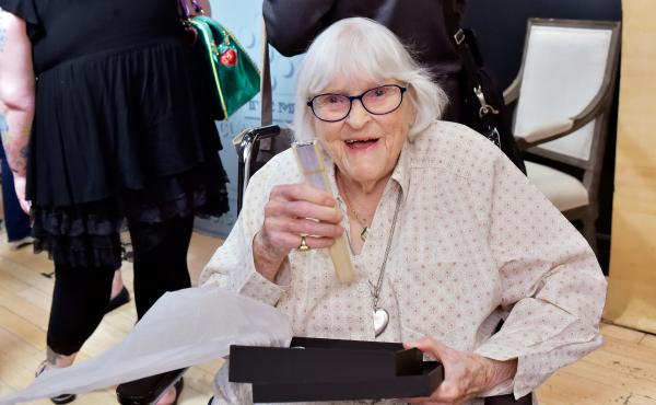 Ruthie Tompson at a screening at the 2018 TCM Classic Film Festival on April 28, 2018 in Hollywood, California. The legendary Disney animator passed away on Sunday at the age of 111.