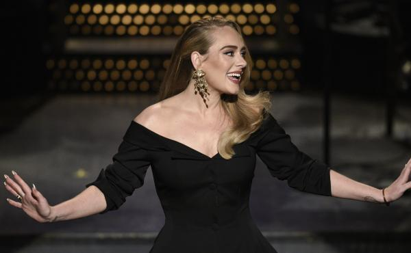 Host Adele during the Saturday Night Live monologue on Saturday, Oct. 24, 2020.