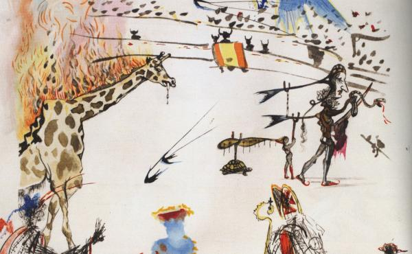 The 1966 Salvador Dalí etching Burning Giraffe, valued at $20,000, was swiped from a San Francisco gallery on Sunday.