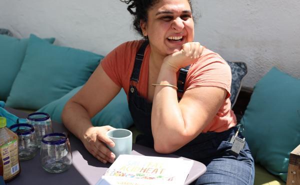 Samin Nosrat, author of the cookbook Salt, Fat, Acid, Heat: Mastering the Elements of Good Cooking.