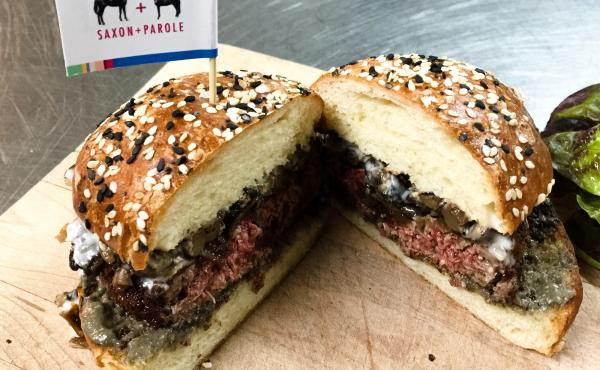 At Saxon + Parole, a New York City restaurant, chef Brad Farmerie serves up the Impossible Burger, a plant-based burger that sizzles, smells and even bleeds like the real thing.