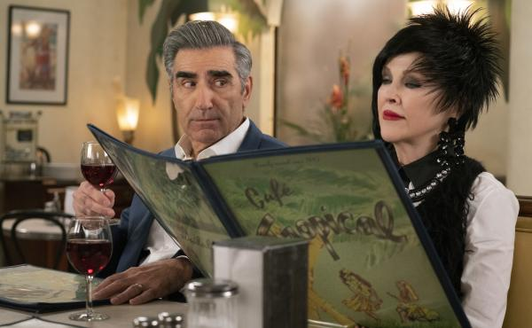Johnny (Eugene Levy) and Moira (Catherine O'Hara) get some things to crow about in season 5 of Schitt's Creek.