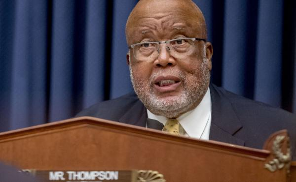 Chairman Rep. Bennie Thompson, D-Miss., at a hearing on July 22. He was not pleased with the Department of Homeland Security on Thursday.