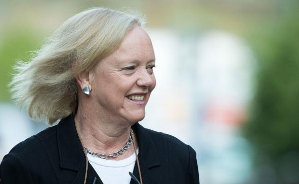 Meg Whitman, CEO of Hewlett-Packard, attends the annual Allen & Company Sun Valley Conference in Sun Valley, Idaho in July. Whitman announced this week that she'll be voting for Hillary Clinton.