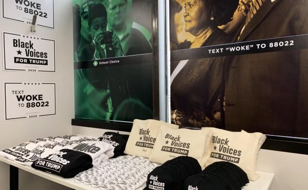 The Trump campaign shared its plans for new Black Voices For Trump field offices, showing off campaign gear like hats, shirts and tote bags.