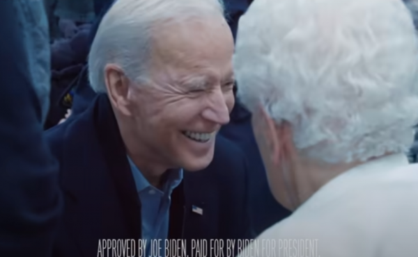 An ad for Joe Biden's presidential campaign ran nationally during last Thursday's NFL game.