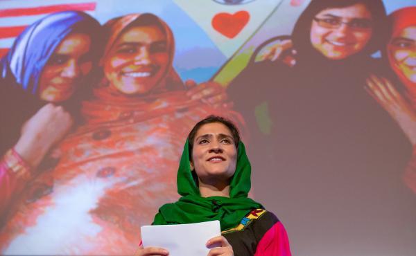 Shabana Basij-Rasikh on the TED stage