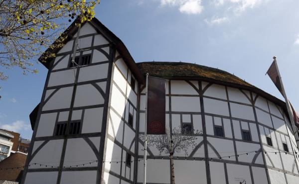 A view of Shakespeare's Globe on the banks of the River Thames in London in 2016. The theater faces the threat of closure after the coronavirus lockdown has dried up its streams of revenue.