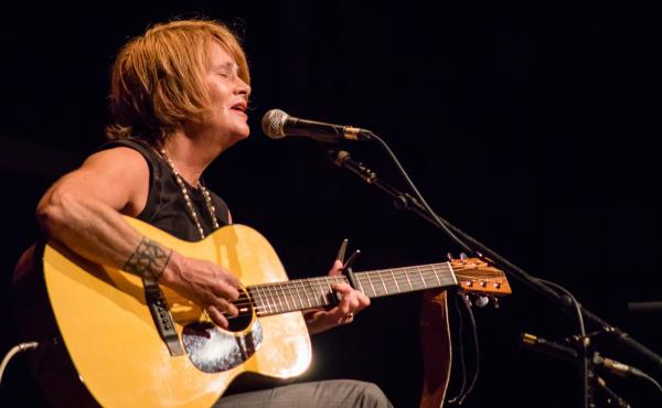 Shawn Colvin performing live for World Cafe.