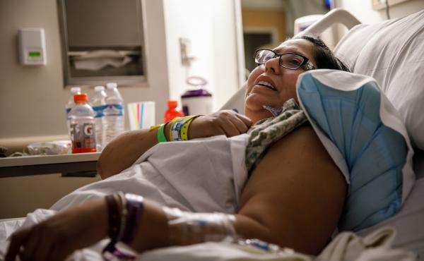 Carmen Algeria, a survivor of the mass shooting in Las Vegas, was admitted to Sunrise Hospital. She had been shot in the leg and on Oct. 2 was awaiting surgery.