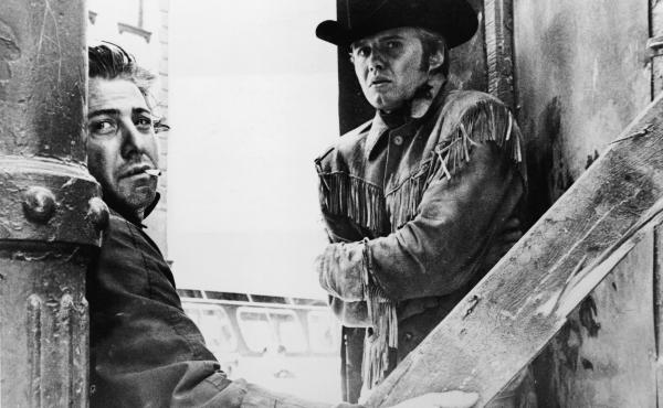 """Dustin Hoffman and Jon Voight appear in a still from """"Midnight Cowboy,"""" directed by John Schlesinger, 1969."""