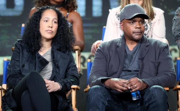 Co-creators of the Fox series Shots Fired, Gina Prince-Bythewood and Reggie Rock Bythewood, speak at a press tour in January.