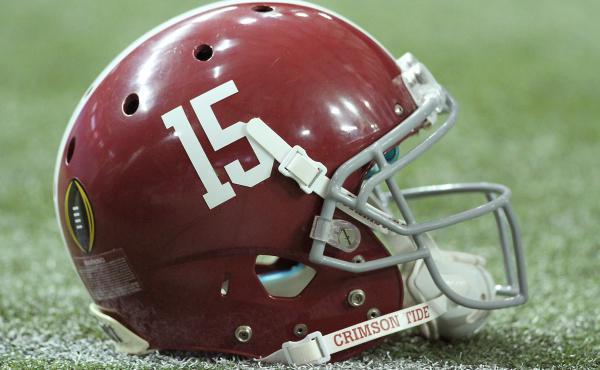 An Alabama helmet on December 31, 2016, at the Georgia Dome in Atlanta, GA.