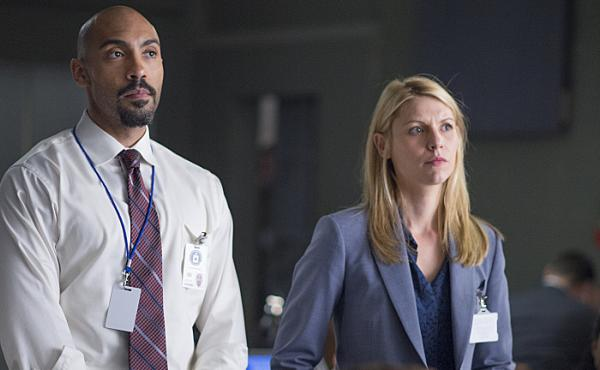 Claire Danes, right, plays CIA station chief Carrie Mathison with Alex Lanipekun on Showtime's Homeland.