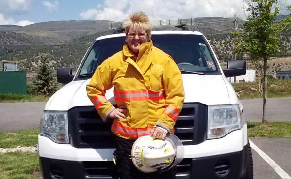 "Chief Brita Horn of the Rock Creek Volunteer Fire Department in Colorado says the department is ""always short-handed."""