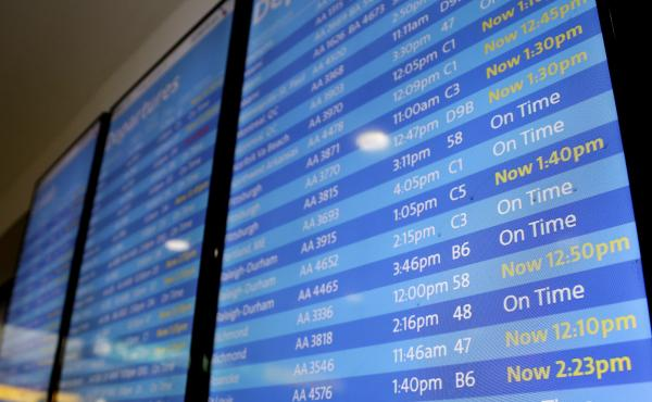 Flights at LaGuardia Airport in New York were delayed Friday morning as the FAA said it was experiencing an uptick in workers calling in sick.
