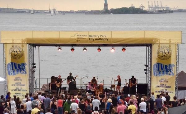 Low Cut Connie performs at Battery Park City River & Blues Festival.