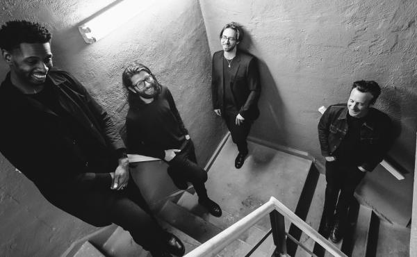 Little Big. From left: David 'DJ' Ginyard (bass), Tommy Crane (drums), Aaron Parks (piano) and Greg Tuohey (guitar). The band will release its second studio album, Little Big II: Dreams of a Mechanical Man, on May 8.