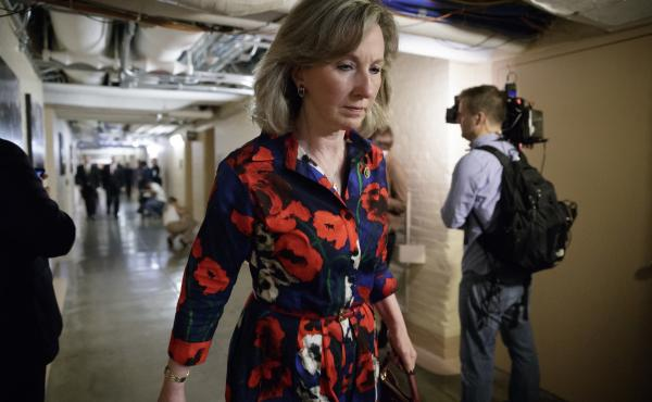 Rep. Barbara Comstock of Virginia, seen at the Capitol in March, is among the Republicans questioning the timing of FBI Director James Comey's firing.
