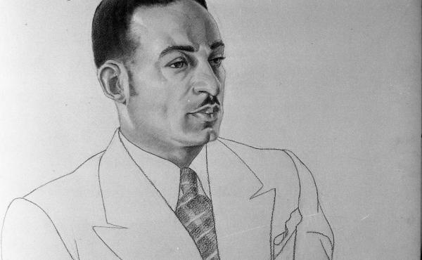 A drawing of composer William Dawson in 1935 by Aaron Douglas. Dawson's Negro Folk Symphony, long neglected, has received a new recording.