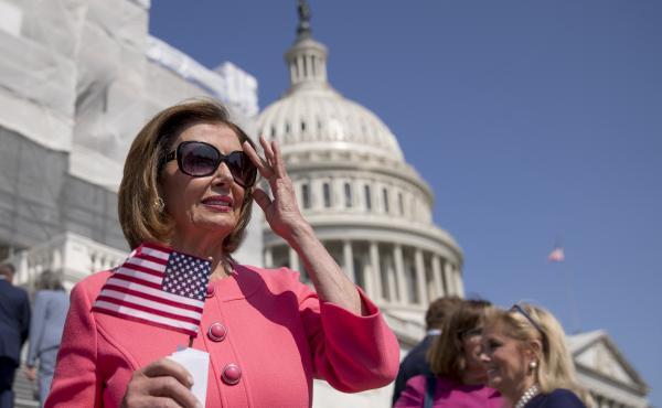 House Speaker Nancy Pelosi outside the U.S. Capitol on July 25, 2019.