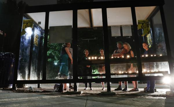 A candlelight vigil was held at a bus shelter at the University of Maryland in College Park, Md, Sunday where visiting student Richard W. Collins III was fatally stabbed.