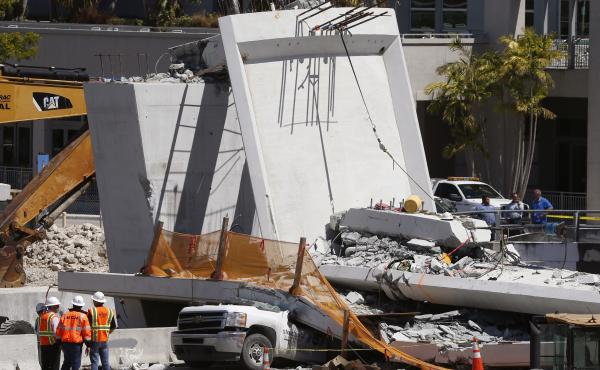 The bridge that collapsed Thursday was supposed to make the crossing of a perilous seven-lane roadway safer for students and staff at Florida International University in Miami.