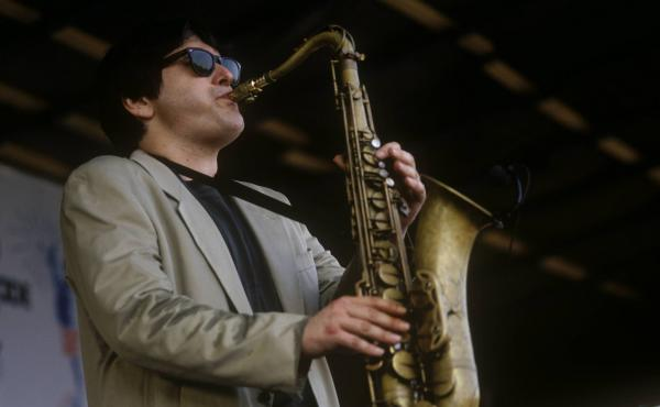Steve Grossman, photographed while performing on July 1, 1991 in Nice, France.