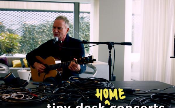 Sting performs a Tiny Desk (home) concert.