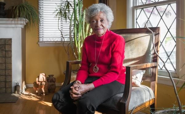 """Maxine Toler, who lives near Los Angeles, has been asking neighbors why they do or do not want the vaccine. But it's the health inequities of today, not the infamous """"Tuskegee Study,"""" that Toler hears about when she talks to Black friends and neighbors ab"""