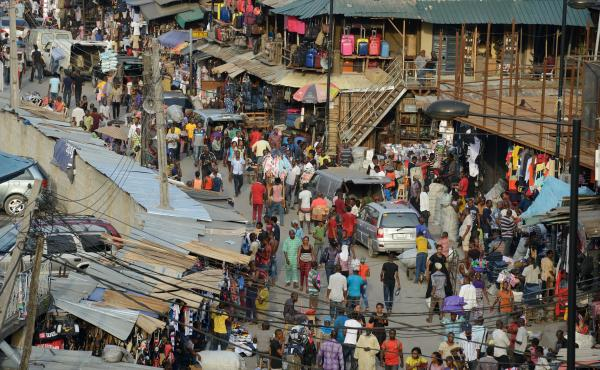 The Jankara market in Lagos, Nigeria. A group called Market March Movement is working to end street harassment in shopping districts across the country.