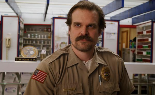 """""""We're all a bit of a mess ..."""" says David Harbour. """"I've always wanted to portray that."""" Harbour plays the cantankerous police chief Jim Hopper on the Netflix series Stranger Things. It returns for its third season on July 4."""