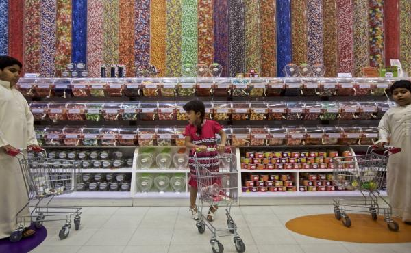 The Candylicious store in the Dubai Mall in the United Arab Emirates.