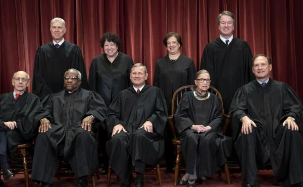 The justices of the U.S. Supreme Court