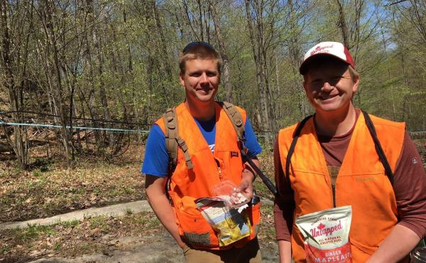 """Doug Brown and his brother Roger, right, operate Slopeside Syrup in Richmond, Vt. They're challenging a proposed federal label that would say maple syrup has """"added sugar."""""""