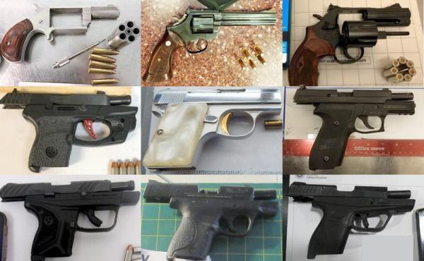 The Transportation Security Administration said the 4,432 guns seized at checkpoints in 2019 were the most in the agency's 18-year history.