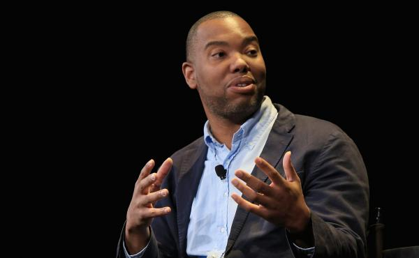 Writer Ta-Nehisi Coates speaks onstage at the 2015 New Yorker Festival last month.
