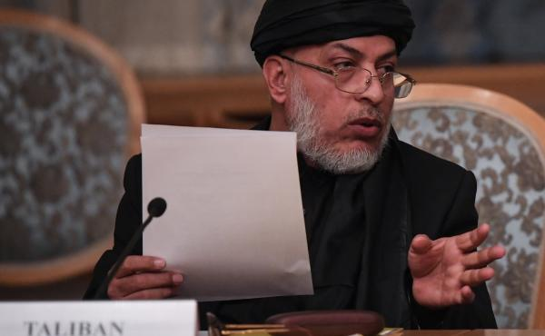 Sher Mohammad Abbas Stanakzai, a representative of the Taliban, attends international talks in Moscow last month. On Monday, the Islamist militant group announced that its representatives would be having conversations with the U.S. in the United Arab Emir