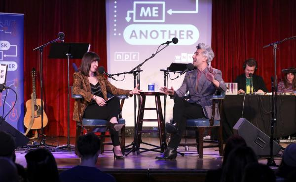 Ask Me Another host Ophira Eisenberg interviews Tan France at the Bell House in Brooklyn, New York.