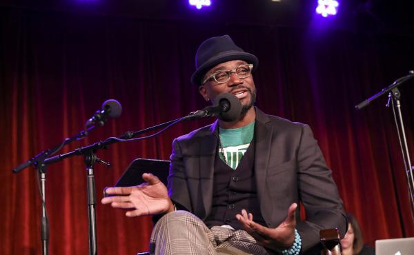 Taye Diggs appears on Ask Me Another at the Bell House in Brooklyn, New York.