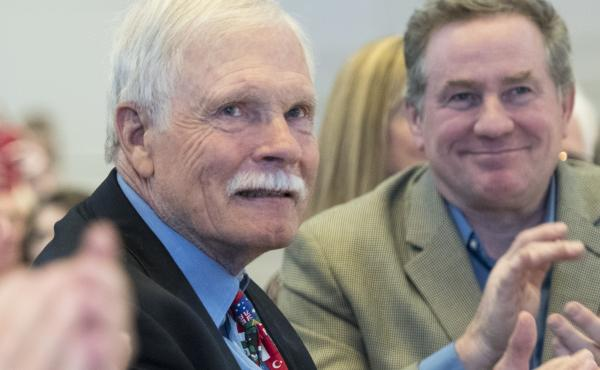 Seen here at a gala in 2017, Ted Turner spoke on CBS Sunday Morning about having Lewy body dementia.
